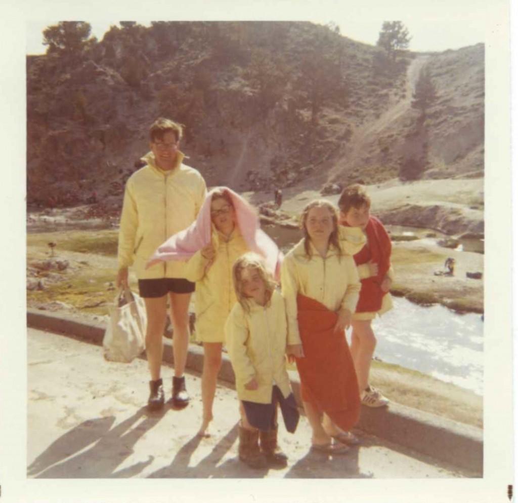 ...and the reality. Apres Ski at Mammoth Hot Creek circa 1969